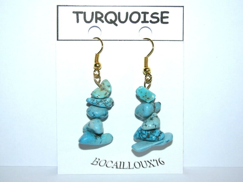 BOUCLE OREILLE BAROQUE TURQUOISE 10