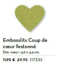p188 embossltis coeur festonné