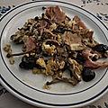 Oeufs brouillés aux champignons variés