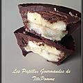 Bouchées gourmandes au chocolat, banane et beurre de cacahuète (vegan)