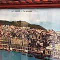 Tableau chromo photo panoramique <b>colorisée</b> Alger la Blanche
