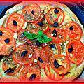 Tarte a la tomate, moutarde aux senteurs de provence