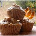 Muffins monday d'automne: pomme-châtaigne-grué de cacao