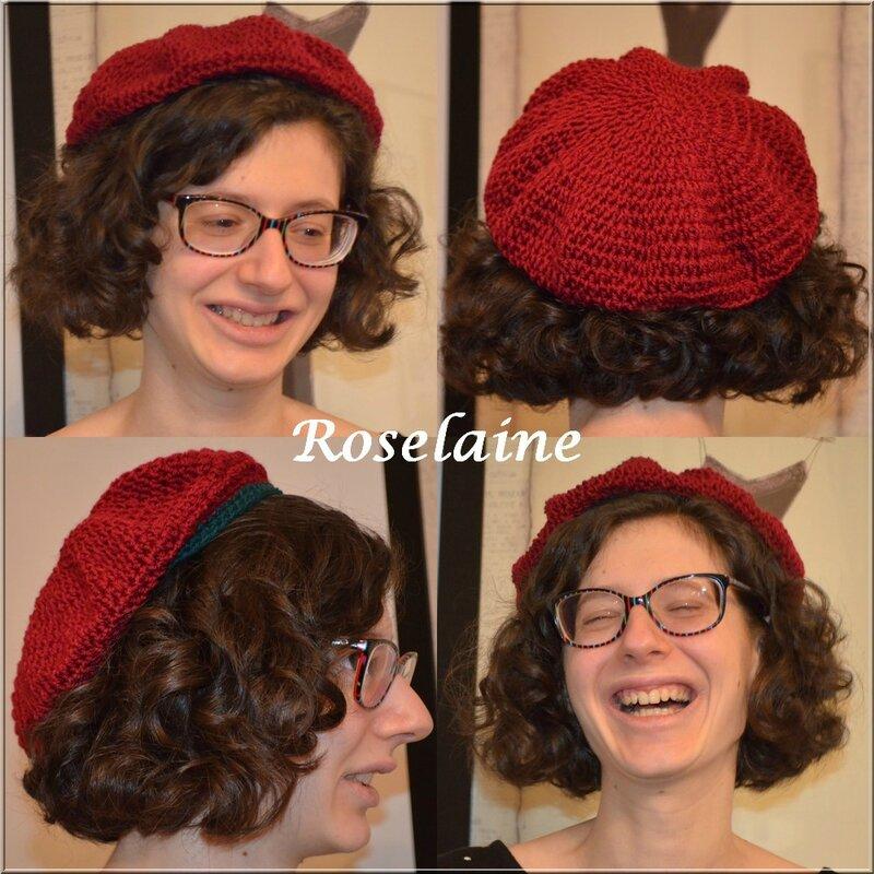 Roselaine 12 Adriafil crochet béret