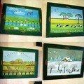 petits tableaux sur papier : les 4 saisons