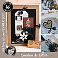 <b>Kit</b> Atelier <b>Tiny</b> <b>Album</b> de Février 2017 scrapé par Is@ de Belley