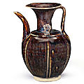 A Northern brown-glazed lobed ewer, China, Five Dynasties period-Northern Song dynasty, <b>10th</b>-<b>11th</b> <b>century</b>