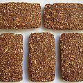 Barres de céréales à la caroube et aux pépites caramel dukan