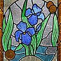 Vitrail aux iris