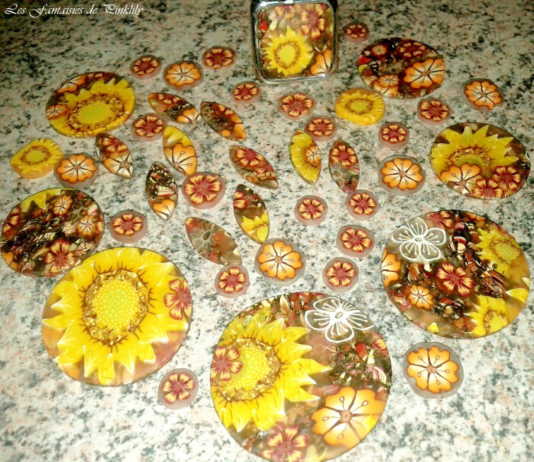 collier fleuri, fond chiné (24)