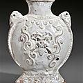 A rare white-glazed pottery flask, China, <b>Northern</b> <b>Qi</b> <b>dynasty</b> (AD 550-577)