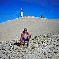 montée à vélo sur le célèbre et mythique mont ventoux (1912m d'altitude),classé