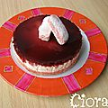 Cheesecake - bavarois aux biscuits roses