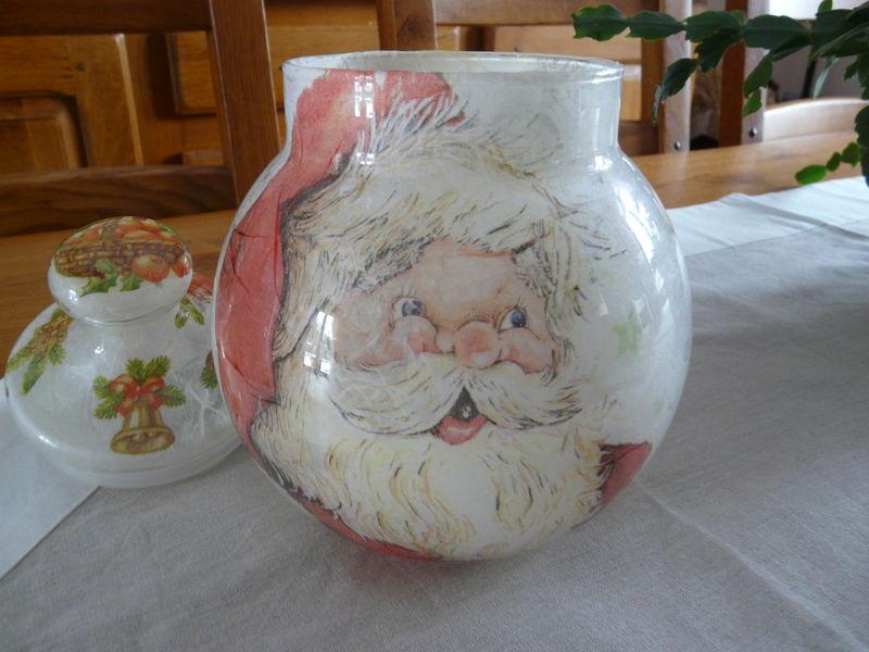 Pot en verre déco Noël