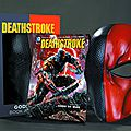 New 52 : <b>Deathstroke</b> vol 1 Gods of war Book and Mask set