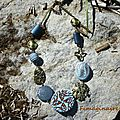 Collier bleu et bronze - 30$