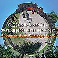 1372 Guerre de cent-Ans - les jeux des chevaliers pendant la campagne de Philippe le Hardi - Poitou, Angoumois, Aunis, Saintonge