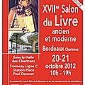 Salon du livre ancien et moderne 20-21 octobre 2012