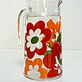 Vaisselle Vintage ... PICHET décoré * <b>Lotus</b>