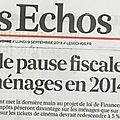 Impôts : hausse pour les ménages alors que les entreprises sont épargnées... c'est le journal patronal les echos qui l'écrit