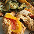 Poelé de courgettes tomates poivrons au poulet au cookeo