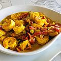 Scampis curry au <b>lait</b> de <b>coco</b>