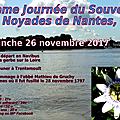 26 novembre 2017 : commémoration des noyades de nantes