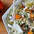 Salade au chou chinois, fenouil et kaki .