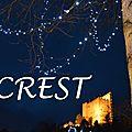 [drôme] crest, entre promenade nocturne et lumières de fêtes...
