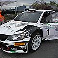 Rallye national du montbrisonnais 42 2017 n°1 1er skoda fabia r5 1er r5 de chez rsr