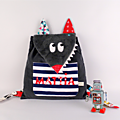 Sac à dso garçon maternelle loup personnalisable couleurs et prénom Mattia sac enfant personnalisé bébé crèche nounou wolf toddler backpack personalized name boy bag preschool