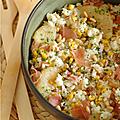 Que faire avec un reste de riz cuit ? une salade composée du placard !
