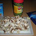 Linguine aux champignons de paris et parmesan