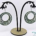 Paire de BO bois décorée - A new pair of wooden decorated earrings