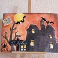 Mail art recu de Karin Halloween