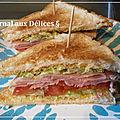 Club sandwich au jambon/crudité ( léger)