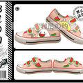 les chaussures dessinees par la main