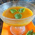 Gazpacho d'abricots au muscat et vanille