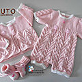 Fiche tricot bébé, modèle à tricoter, layette tricot bb, tuto, explications en pdf