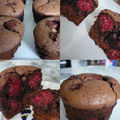 Muffins chocolat - framboises