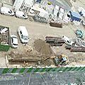 Centre bus lagny : paroi moulée, construction de la murette-guide