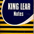 livre : <b>King</b> <b>Lear</b>, Notes.