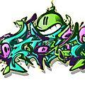 Entre graff et peinture... (suite)