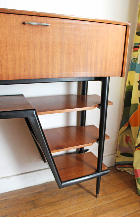 meuble-d'entree-secretaire-teck-vintage-etageres