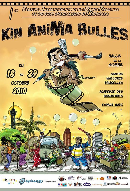 Affiche festival KIN ANIMA BULLES 2010