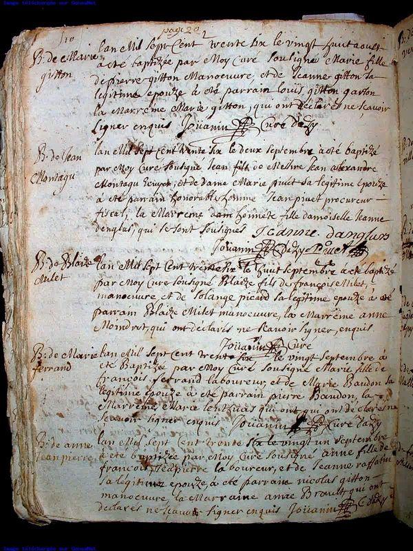 Montagu Jean _ Bapteme 1736_acte geneanet