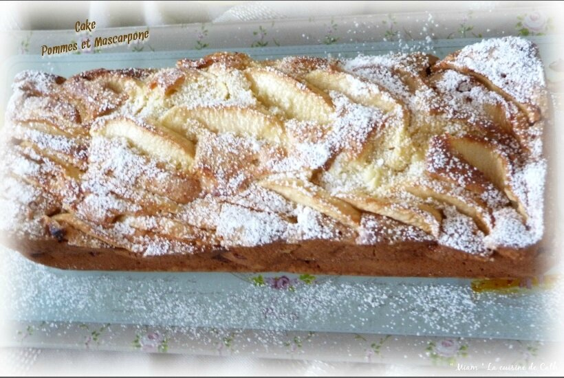 """ღ """" Miam """" Cake mascarpone et Très Pommes .."""
