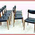 Chaises french vintage déco scandinave 1960