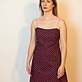 Robe jeanne coton imprimé