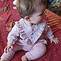 #Couture : Robe à plastron et <b>volant</b> pour bébé, Coudre c'est facile n°58